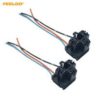 FEELDO 2PCS Auto Car Truck H4 strålkastare förlängningslampa kontaktplugguttagsadapter H4 LED HID Light Wiring Harness # 5957