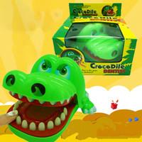 المبدع النكات العملية الفم الأسنان التمساح اليد ولعب الأطفال التمساح لعبة كلاسيكي عض إصبع الأسرة ألعاب VT0103