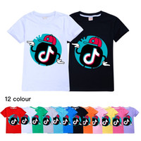 Venda quente Tik Tok T-Shirt de Manga Curta T-Shirt 12 Estilos disponíveis 100% Cotton Kids Clothes Kids Tops Boy / Girl Tees Children T-shirt de Tiktok