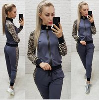 2019 Survêtement Black Women Costume + Sweat-shirt à capuche Pantalon de jogging Femme Marque Survetement veste de sport 2pc Set