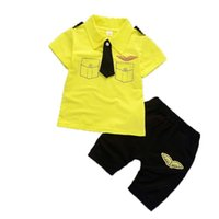 good quality Summer Baby Boy Clothing Set Kids Sport Suits T...