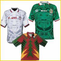 1998 Mexique Retro Blanco Hernandez Blanco Campos de football Jerseys Soccer Uniformes Home Gardien de but de football Jerseys Chemise Camiseta Futbol