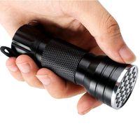 395nm Viola 21LED Ultra Viola Torcia della torcia della luce della lampada mini portatile luce UV Flash 21 LED UV per Blacklight lampade invisibili