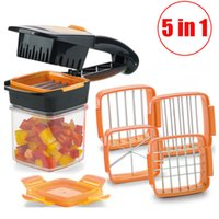 Cool Magic Slicer 4 Lames Nicer Chopper Dicer Set Rapide 5 En 1 Légumes Fruits Cutter Nourriture Multi-Fonction Salade Oignon Coupeur De Légumes