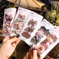 4 шт. / компл. 10 Стиль дети лук заколки для волос симпатичные Корона полосы Шпилька девочка мультфильм Кролик ручной работы заколки для волос для девочек аксессуары для волос M1775
