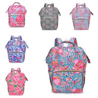 Nursing Bag Backpack Mummy Designer Backpacks Flamingo Zippe...