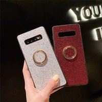 Flash Rhineston Ring Bracket Custodia per cellulare per Apple Phone iPhone X 8/7/6 Plus Xs Xr Xs Max Squisita Lucida Semplice Bella Tendenza Fresco