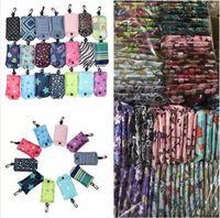 Nylon pieghevole riutilizzabile Shopping Bags Storage Sacco Eco-friendly pieghevole Shopping Tote Bags Pouch nuove signore bagagli sacchetti della borsa con gancio