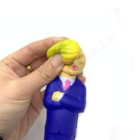 Дональд Трамп Squishy Pen Slow Rebound Декомпрессия игрушки Имитация мультфильм Смешные ручки Slow Восходящая Squeeze стресс Облегчение новизны подарков E11402