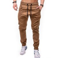 3b303bdd1a Wholesale spandex work pants online - 2019 gym new Work clothes Multiple  pockets fashion pants woven
