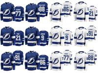Tampa Bay Lightning jerseys para hombre 88 Andrei Vasilevski Jersey 91 Steven Stamkos 77 Victor Hedman para mujer de hockey sobre hielo de los jerseys cosido Juvenil