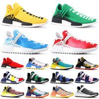 2019 race humaine NMD Pharrell Williams Hu Pack solaire Orange jaune Nobel d'encre Scarlet BBC Hommes Designer Sneakers US 5-11.5