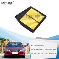 Honda Accord CP1에 대 한 Zuk 새로운 에어 필터 요소 CP1 2.0L 2009 2010 2013 2013 Spirior CU1 2.0L 2010-2014 OEM : 17220-R60-U00