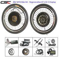 CSC 전자 자전거 키트 전기 자전거 자전거 변환 키트 48V 1500W 전면 후면 허브 엔진 키트 회생 LCD 디스플레이 wi 옵션 배터리