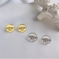 Чистое серебро 925 пробы предотвратить аллергию пчелы серьги-гвоздики для женщин нерегулярные геометрические свадебные серьги ювелирные изделия Pendientes