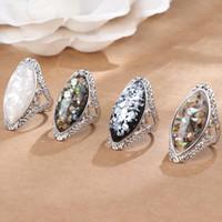 renkli Shell halka Hollow Retro elmas yüzük lüks tasarımcı takı kadınlar yüzük tasarımcı halka moda takı womens dışarı