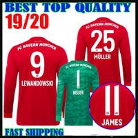 062f7debe23 Wholesale neuer goalkeeper jersey for sale - 19 Bayern Munich long sleeve  soccer Jerseys home red
