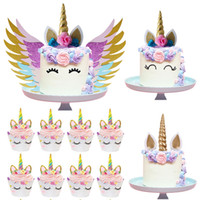 Unicorn Cake Topper Unicornio Horn Ears Cake Decorations Cup...