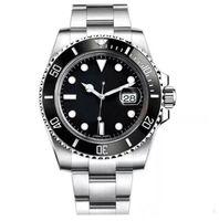 최고 고급 세라믹 베젤 남성 기계 스테인레스 스틸 자동 운동 시계 스포츠 자체 바람 시계 디자이너 시계 손목 시계