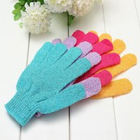 Beş Parmak Havlu Eldiven Banyo Ürünleri Banyo Scrub Fırçalar Masaj Süngerleri Duş Scrubbers Temiz Fırça Renkli