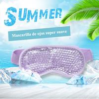 2020 Gel máscara de ojo de correa ajustable para la terapia de frío caliente calmante relajante gel de la belleza de los ojos Gafas de máscara para dormir hielo máscara para dormir