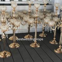 Yeni stil çiçek kase üst kristal şamdanlar, kristaller masa düğün centerpieces best01236