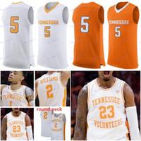 Personalizado Tennessee Volunteers NCAA Basketball branco laranja Qualquer Nome Número 2 Grant Williams 0 óssea 5 Almirante Schofield Turner Kent Jerseys