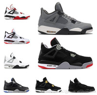 2019 Bred 4s zapatos de baloncesto para hombre 4 Cool Grey PALE CITRON PURE MONEY OREO cemento blanco ALTERNATE Wings fashion men sports sneakers