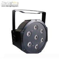 زيتا الإضاءة LED أضواء الاسمية البسيطة شقة RGBW الاسمية يمكن إضاءة مسرح 7X12W 4IN1 DMX512 SlimPar خلط اللون DJ ديسكو حفل زفاف تأثير