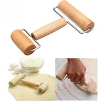 Wooden Non-stick Glide fondant rolling pin H-shaped Fondant Cake Dough Roller Decorating Cake Roller crafts Baking cooking Tool