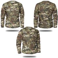 Camicia a maniche lunghe Mege marchio di abbigliamento nuovo autunno della molla uomini Tactical camuffamento della maglietta Camisa Masculina Quick Dry esercito militare Trend