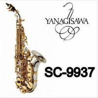 İyi Kalite YANAGISAWA SC-9937 Kavisli Boyun Soprano Saksafon B Düz Pirinç Nikel Gümüş Kaplama Sax ile Ağızlık Kılıf