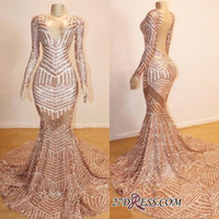 2019 Real Photos Vintage Evening Gowns V Neck Mermaid Long S...