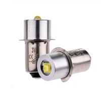 3W سبائك الألومنيوم الصمام مصباح يدوي لمبة توفير الطاقة P13.5S الضوء الأبيض 23MM 3V / 4-12V الصمام المصابيح