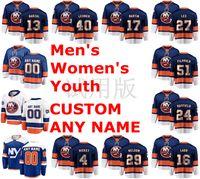 Mens New York Islanders Hockey maglie Mathew Barzal Jersey 13 Robin Lehner 40 Matt Martin 17 Anders Lee 27 Jersey autentica Ice cucito
