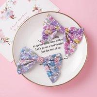 Clips floral de la mariposa del pelo del arco para los pequeños bebés elástico linda del niño recién nacido de las horquillas de la cinta hecha a mano barrettes clips