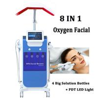 8 en 1 Hidra Máquina de Oxígeno Facial BIO BIO EURSONICA CALIENTE CALIENTE Microdermabrasión Diamante Cristales Hidrapeel Tip Inyector Pistola de pulverización