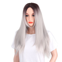 New Style Wig Lace Frontal Long Straight Synthetic Wigs Diff...