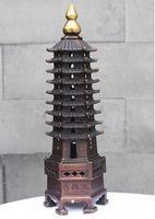 Artisanat Cuivre Bronze Laiton Chine Bronze Laiton Feng Shui Chine Rouge Cuivre Bronze Wenchang Tour Stupa Pagode Feng Shui Décor