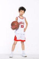 Детский баскетбол Джерси для мальчиков для мальчиков дошкольный баскетбол Джерси футболка et Шорты молодежи маленькие дешевые настроенные