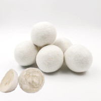 2.75 بوصة منتجات الغسيل كرات مجفف الصوف مجفف قابلة لإعادة الاستخدام النسيج الطبيعي المنقي static يساعد على الجفاف الملابس أسرع