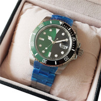 New Popular Mens 40mm Watch Half Green Half Black Dial 300m ...