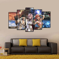 (Solo Canvas No Frame) 5Pcs Final Fantasy XIII Gioco Anime Wall Art HD Stampa Canvas Painting Moda appendere le immagini