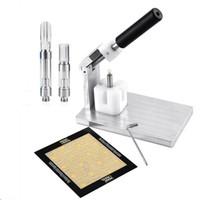 Пресс-Арбор на ручной инструмент машины Нажмите On Для печати в Drip Tip Vape Картриджи Нажатие телеги испарители