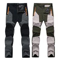 Nuevos Hombres Invierno Otoño Impermeable Impermeable Pantalones Elásticos Al Aire Libre Pescado Campamento Senderismo Pantalones Pantalones Fleece Cálido