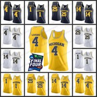 Michigan State Basketball Jersey 2019 Finale Vier Männer 4 Livers 1 Matthews 25 Ozeir 14 Ozuna-Harrison College Michigan State Basketball-Trikot