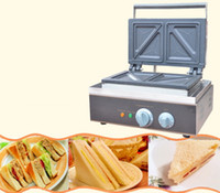 Macchina 110v 220v Sandwich commerciale macchina Sandwich Maker Colazione Maker macchina del pane Tostapane elettrico Cucina Attrezzature Waffle