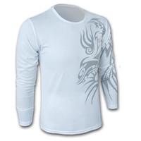 Dry shirt mafia guerreros Style Crew China Spring UE Marcas estadounidenses camisetas del tatuaje del dragón de impresión de algodón de manga larga Hombres rápida Cuello Polo Casual