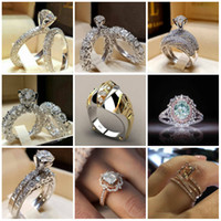 Fashion Silver plated Band Ring For Women Ladies Wedding Par...