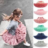 Crianças Bow Tutu Saias Halloween Net meninas fio bebê tule princesa saia dança Ballet 30 cores crianças rendas tutu vestido
